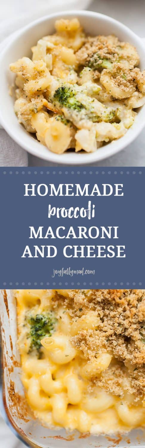 Homemade baked macaroni and cheese is a recipe every one should know how to make! If you enjoy eating mac and cheese, and who doesn't, this is a recipe you've got to try! It's perfect for weeknight dinners, bringing to a friend, or serving to the whole family! This homemade broccoli macaroni and cheese is made with corkscrew pasta, homemade cheese sauce, broccoli and finished with a bread crumb topping.?