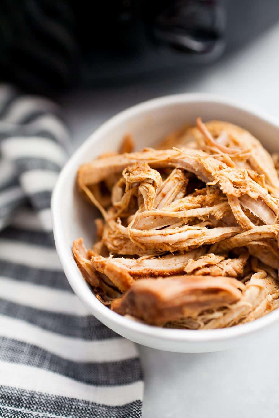 Slow cooker pulled pork is a classic! If you're looking for a healthier, refined sugar free version to make your entire family, this is it. Made with coconut sugar, spices, chicken broth and a dash of soy sauce, this?Refined Sugar Free Slow Cooker Pulled Pork can be thrown in the slow cooker in the morning and enjoyed with the whole family for dinner. This recipe also makes tons of leftovers for enjoying a second or third time around!