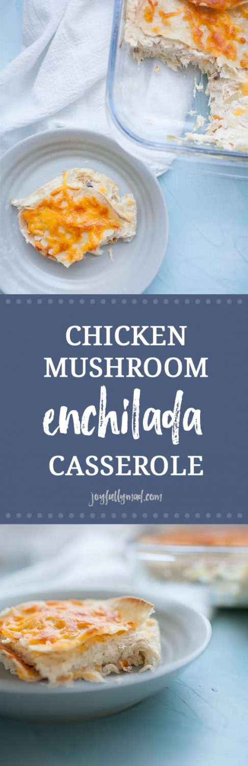 This Chicken Mushroom Enchilada Casserole is a hearty entree packed with flavor from shredded chicken, mushroom, onions, sour cream, and cream of mushroom. Perfectly for sharing with friends or a weeknight dinner!