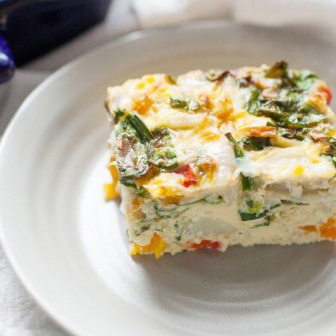 Spinach Veggie Egg Casserole