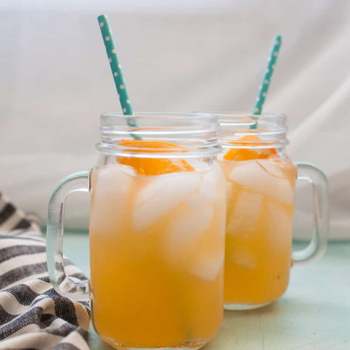 Nothing says summer like a tall glass of Honey Orange Lemonade! This lemonade variation is naturally sweetened with a quick honey simple syrup and made with freshly squeezed oranges and lemons. Celebrate the warmer weather with a refreshing glass of Honey Orange Lemonade!?