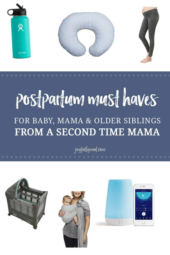 If you're wondering what the real must haves are for a baby and postpartum period, here is a list from a second time mama who likes to keep things as simple as possible! In this list there are items for baby, mama, and siblings, too!?