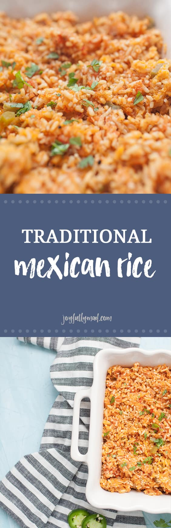If you love Mexican food but want that restaurant quality food at home, this Traditional Mexican Rice is for you! This recipe is easy to make and bakes in the oven, which locks in the flavor and moisture that makes this recipe so delicious. You'll never go back to eating Mexican rice any other way!?