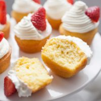 Strawberry Shortcake Cupcakes with Whipped Cream Frosting