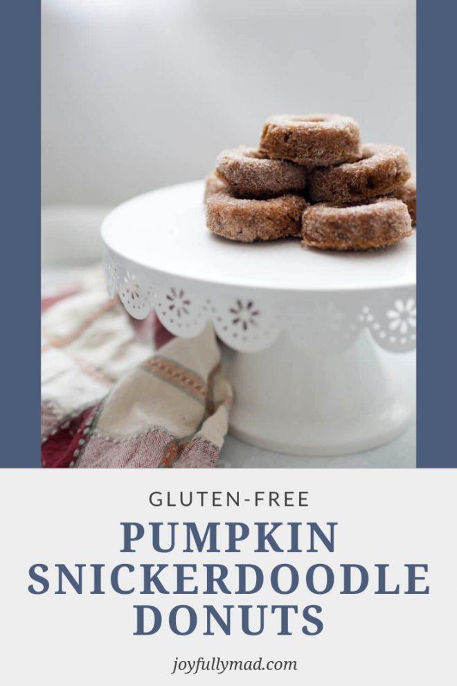 Gluten Free Pumpkin Snickerdoodle Donuts