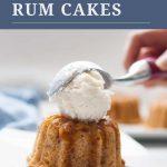 Mini Apple Spice Rum Cakes