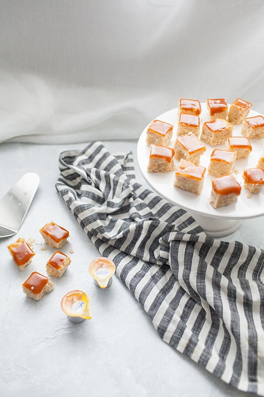 If you need an easy dessert for your holiday celebrations, thisCaramel Macchiato Coffee Creamer Fudge Recipe is super easy to make and everyone will love it. It has a white chocolate and caramel flavored base with a layer of homemade caramel sauce on top.