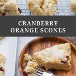 Fresh Cranberry Orange Scones