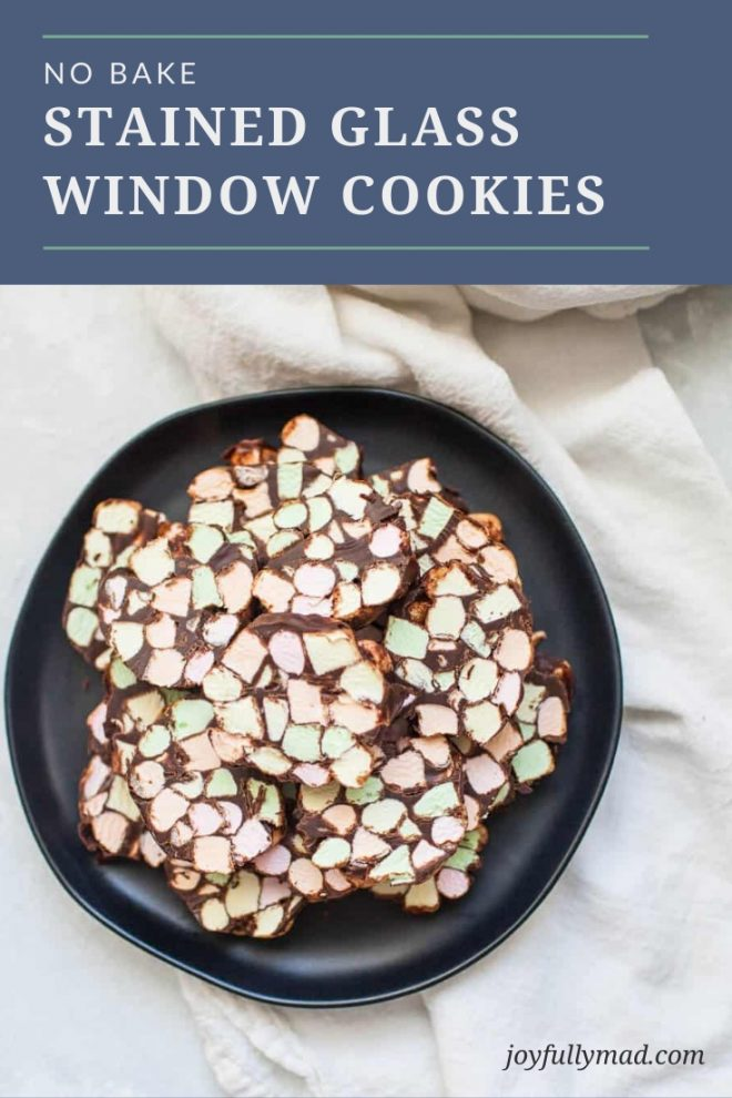 Stained Glass Window No Bake Cookies