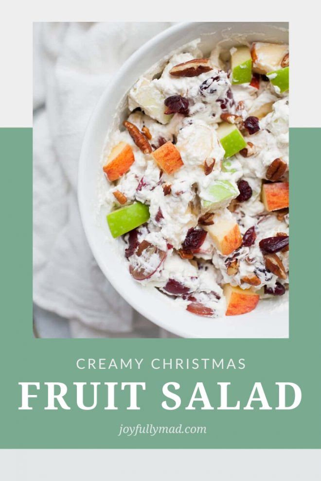 Creamy Christmas Fruit Salad